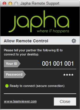 Japha Remote Support (Mac)
