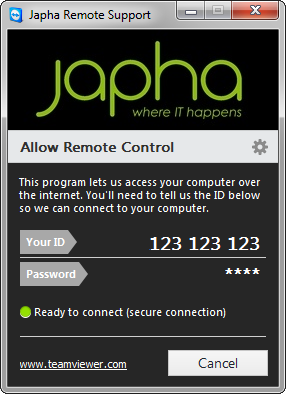 Japha Remote Support (Windows)