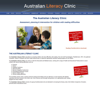 Australian Literacy Clinic website