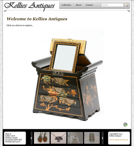 Kellies Antiques website